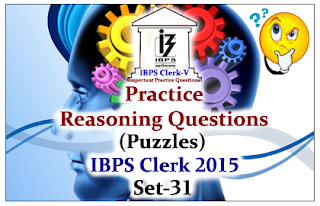 Race IBPS Clerk 2015- Practice Reasoning Questions (Puzzles) Set-31