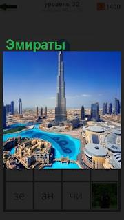 1100 слов панорама города в Эмиратах сверху 32 уровень