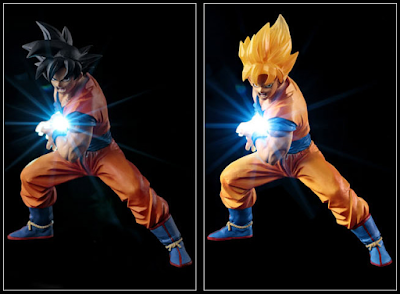 Action Figure LED Son Goku Kamehameha