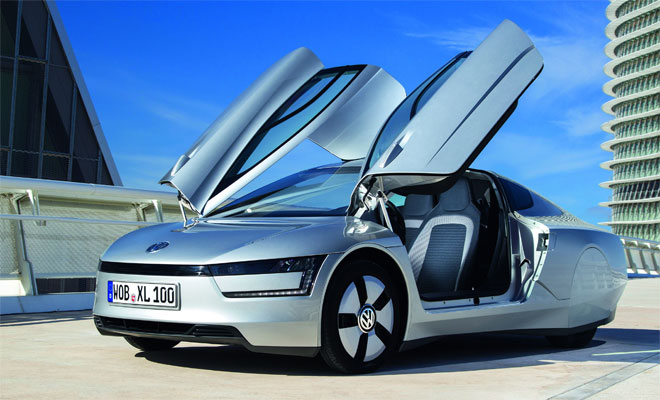 Volkswagen XL1 production car doors