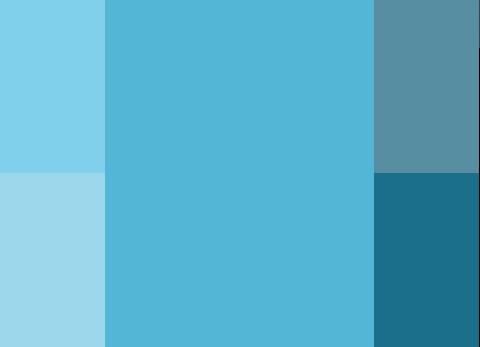 paleta de colores monocromático para blog de educación o literatura