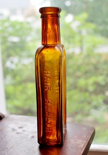 antique amber medicine bottle