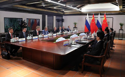 President of Russia Vladimir Putin had talks with President of the People's Republic of China Xi Jinping in Xiamen.