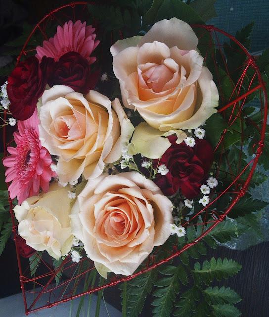ruusut, sydän, irjan kukat