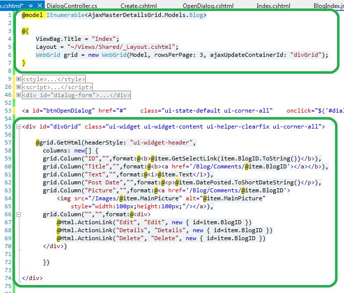 The ASP NET MVC Club: Step By Step How to create a Modal