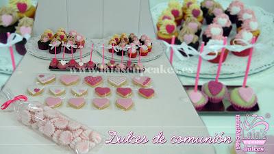 mesa dulce comunión cupcakes mini suspiros cookies galletas cakepops dulces laia's cupcakes puerto sagunto