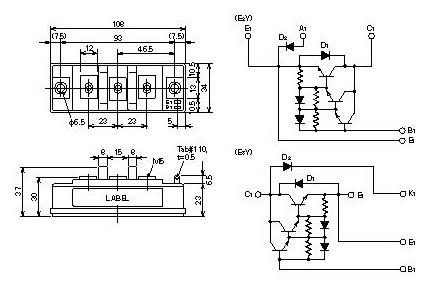 Electronics Part Reviews: QM75E3Y-2H IGBT MODULE