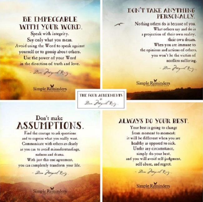 The Four Agreements By Don Miguel Ruiz Zmark