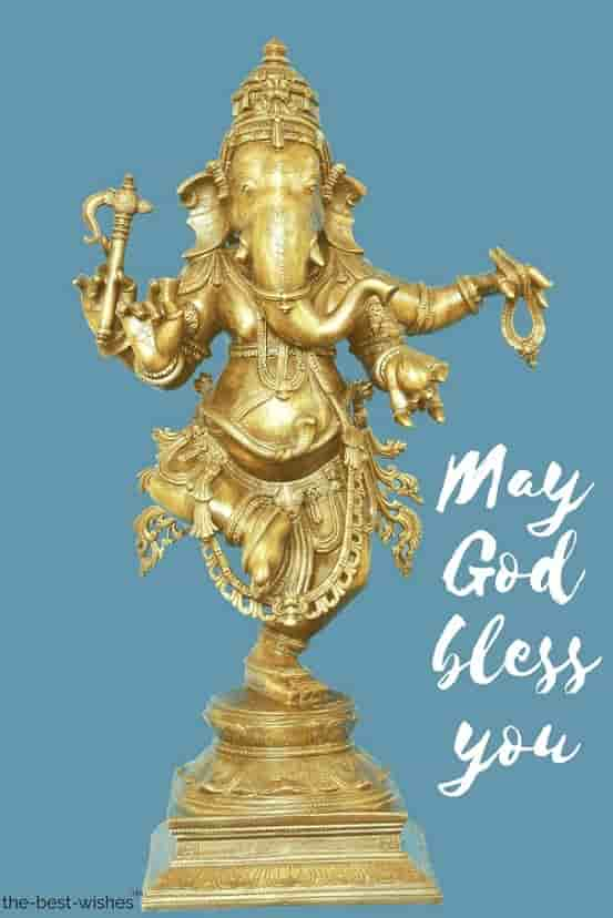 dancing ganesh god hindu elephant may god bless you