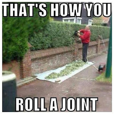 Roll, roll, roll a joint, twist it at the end. Light it up and take a puff and pass it to your friend.