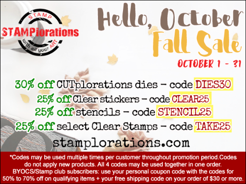 STAMPlorations Fall Sale!