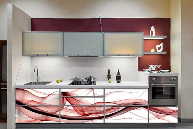 Vitrinas de cristal decoradas el blog de cocinas santa pola for Vinilos muebles cocina