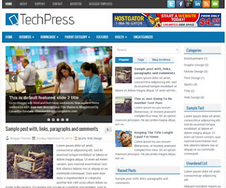TechPress Blogger Template