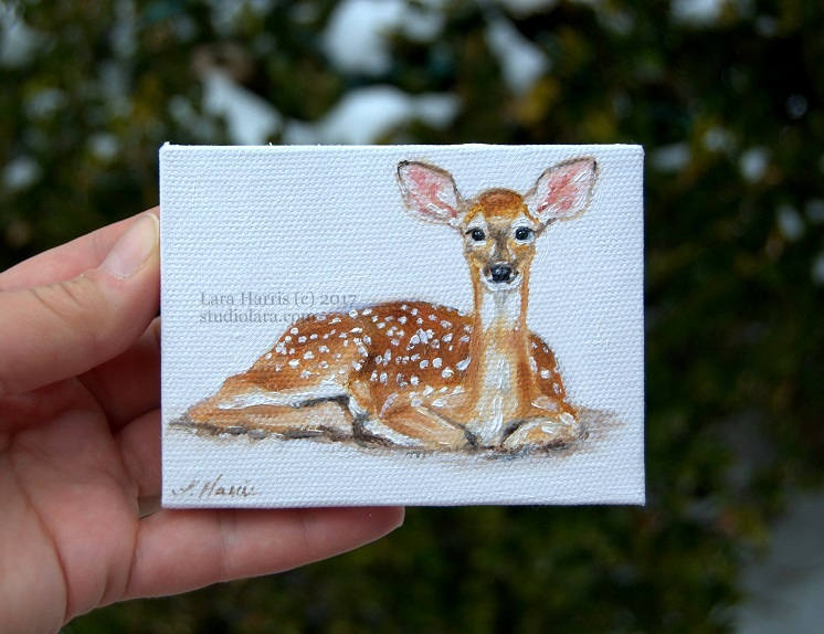 Studio Lara: Itty Bitty Bits of Pretty   Miniature Paintings