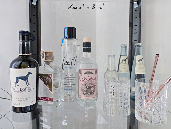 Cocktailsammlung: Feel, Gin-Rouge, Windspiel, Elephant