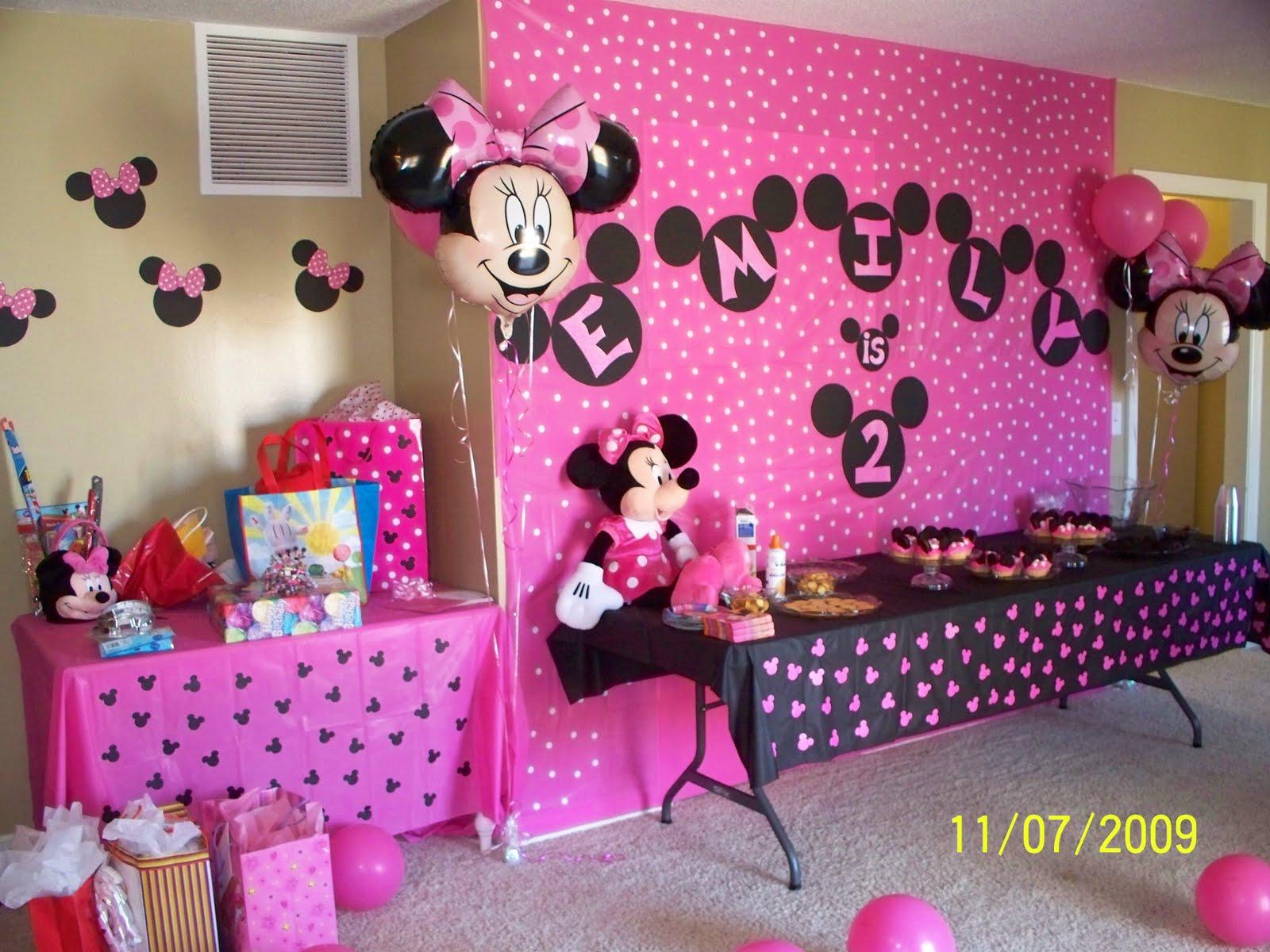 Minnie Mouse Birthday Decoration Ideas Elitflat