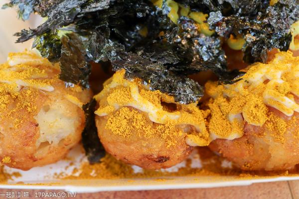 台中大里|秋町菇菇燒大里店|手作小丸子|素食章魚燒小吃|多種口味都受歡迎