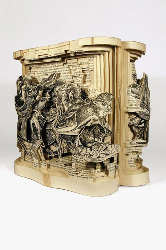 Скульптуры из книг. Brian Dettmer 12