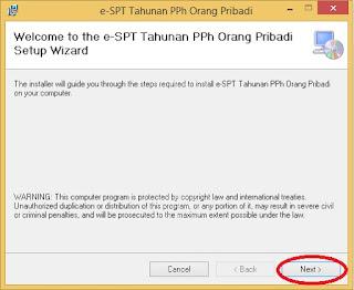 Download Installer dan Petunjuk Install E-SPT Tahunan PPh Orang Pribadi 2016