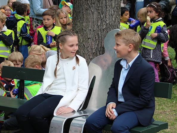 Crown Princess Mette-Marit of Norway, Prince Sverre Magnus of Norway and Princess Ingrid Alexandra of Norway attend the Opening of The Princess Ingrid Alexandra Sculpture Park