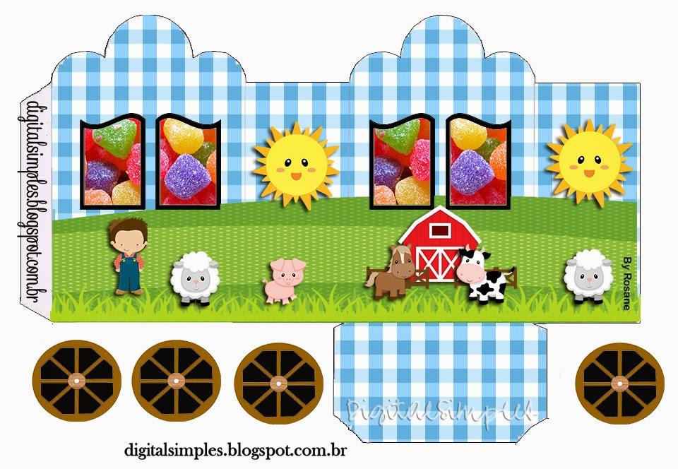 La Granja para Niños: Caja con forma de Carruaje para Imprimir ...