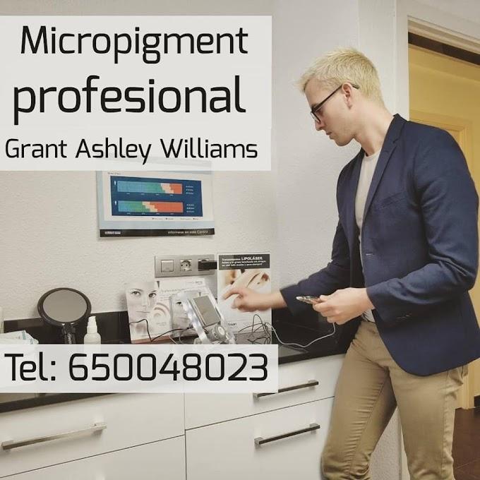 Micropigmentacion profesional realizado por Grant Ashley Williams