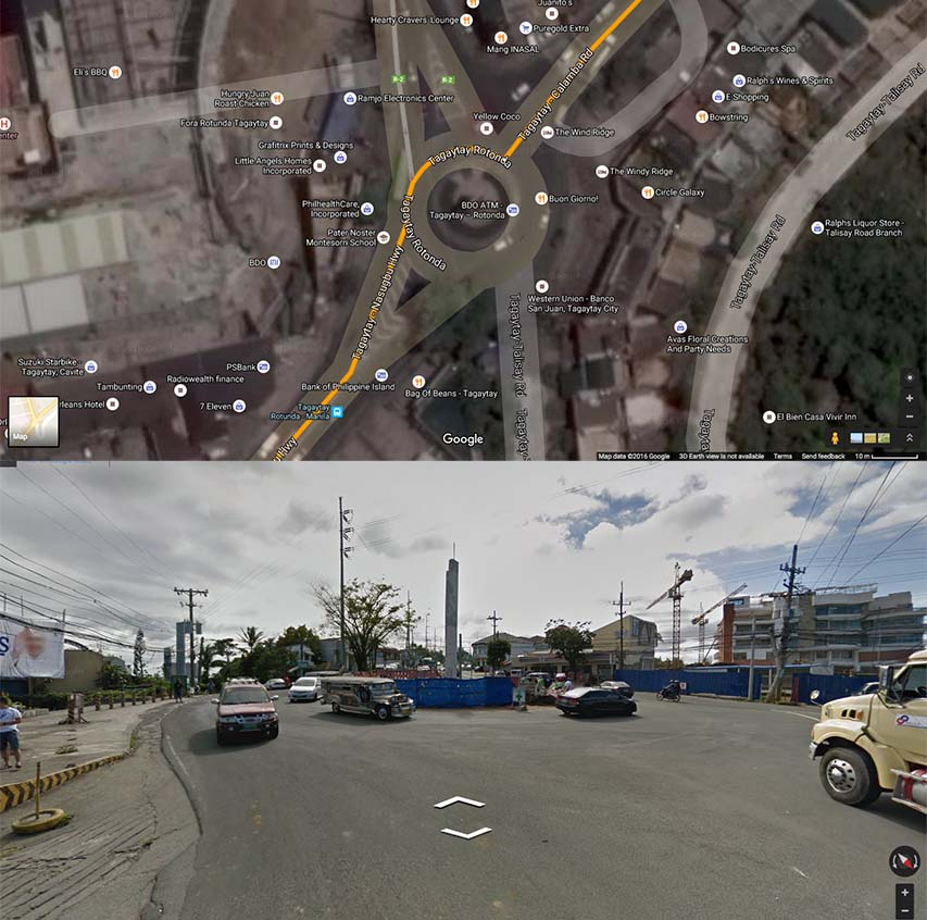 Tagaytay roundabout