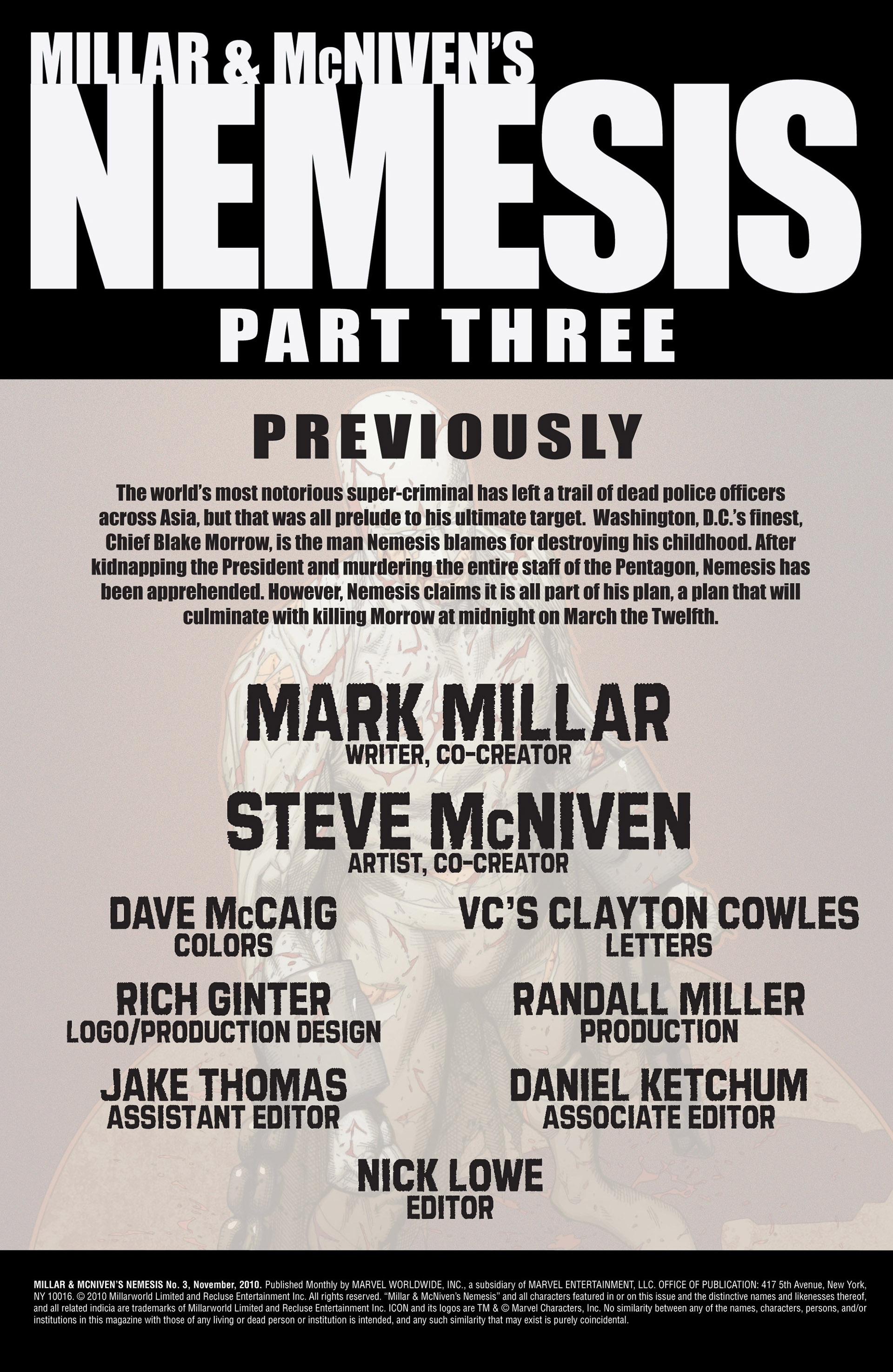 Read online Millar & McNiven's Nemesis comic -  Issue #3 - 2
