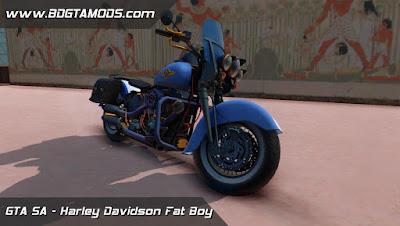 Harley Davidson Fat Boy para GTA San Andreas , GTA SA