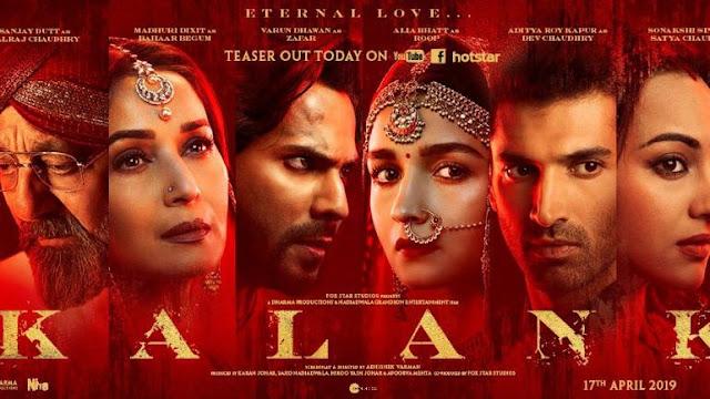 Kalank Full Movie Download Filmywap {Sanjay Dutt,Varun,Alia,Madhuri,Aditya,Sonakshi}