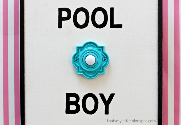 DIY Pool Boy sign
