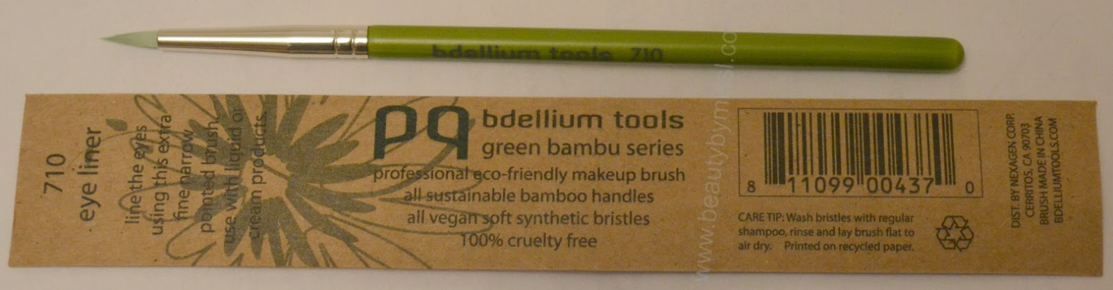 Bdellium Tools Green Bambu Series 710 Eye Liner brush review