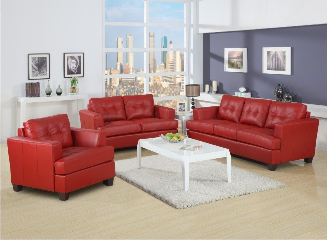 Red leather sofa for 2 piece red sectional sofa