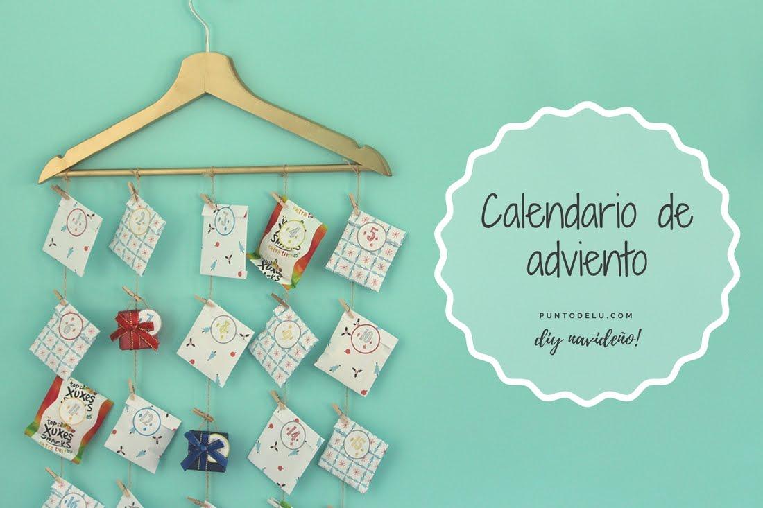 Calendario de adviento con una percha - Punto de Lu