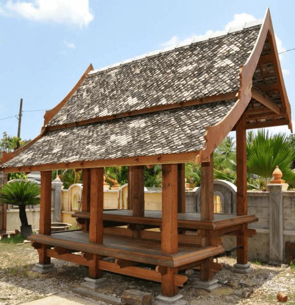 Gambar gazebo kayu