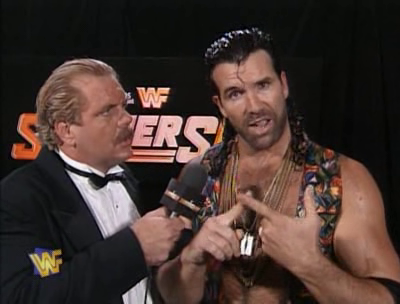 WWF / WWE - SUMMERSLAM 1995 - Doc Hendrix interviews Razor Ramon before the ladder match