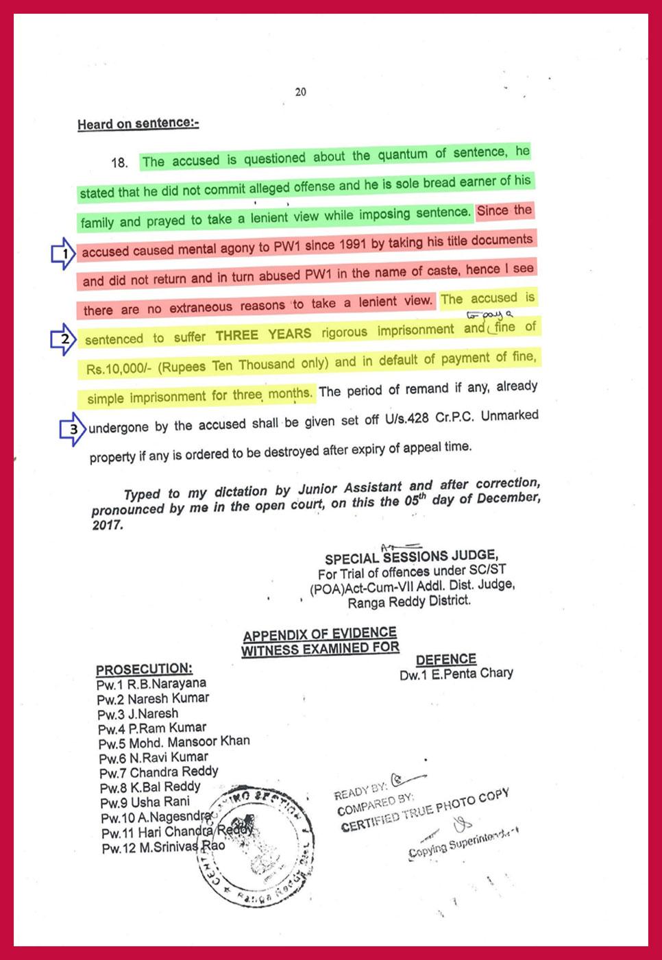 Ranga Reddy Court Judgment period 294 days-19