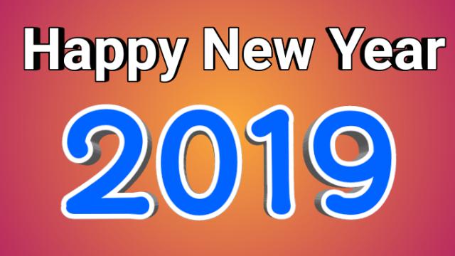 Happy new year 2019 3d image, Happy new year 2019,