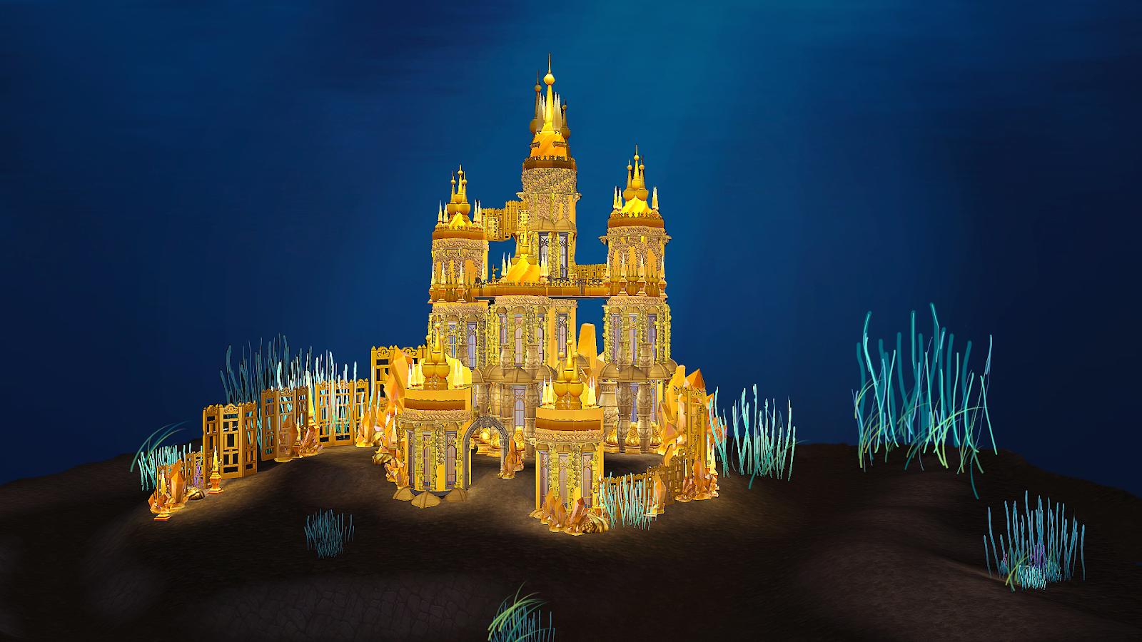 Ariel Underwater Castle Kai Bellvert