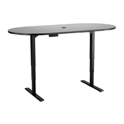 Safco Height Adjustable Teaming Table