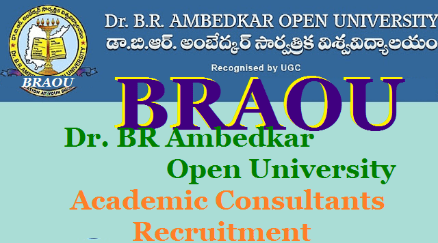 Dr. BR Ambedkar Open University, Recruitment, BRAOU Academic Consultants