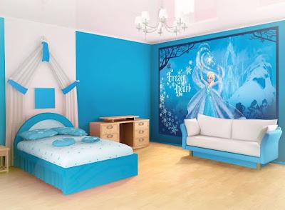 Wallpaper Dinding Kamar Tidur Anak Frozen