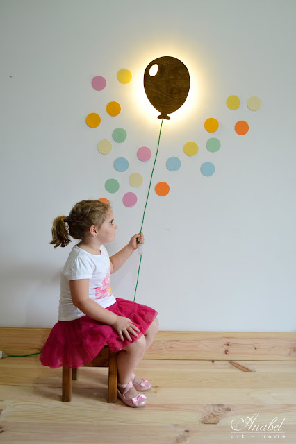 Lampara infantil de pared globo