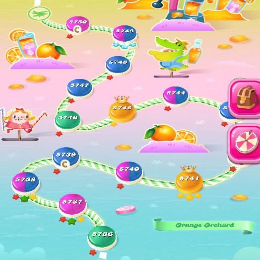 Candy Crush Saga level 5736-5750