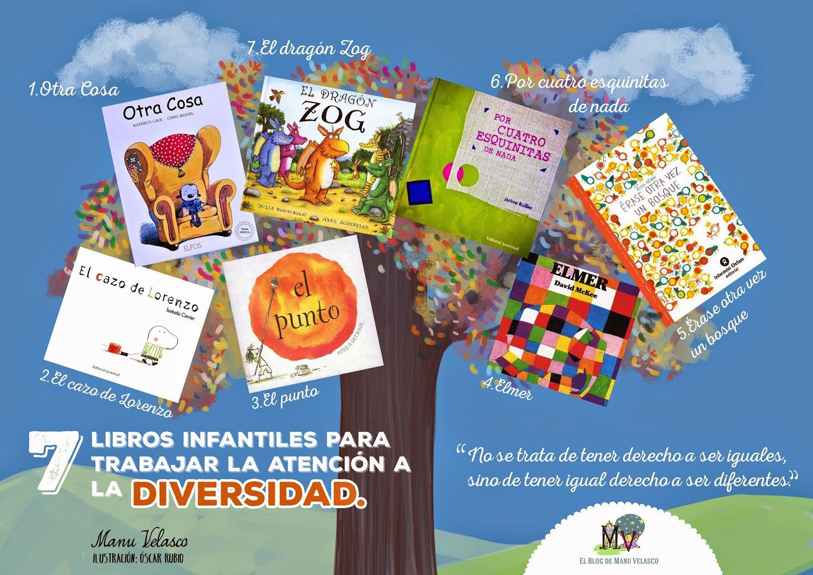 7 libros infantiles para trabajar la atención a la diversidad