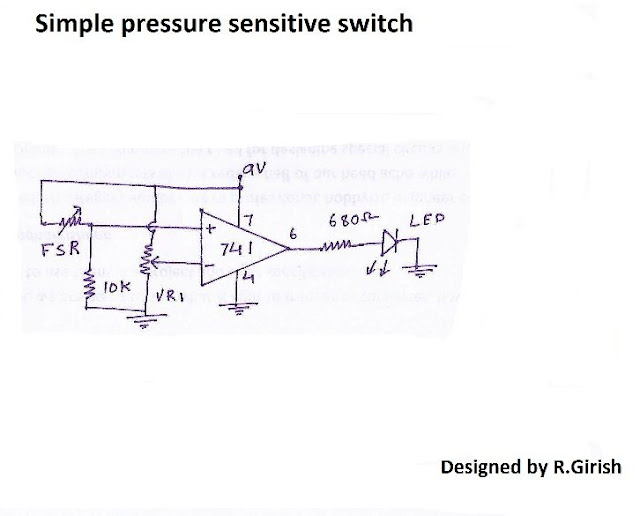 Basic circuits using force sensitive resistor