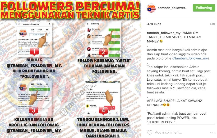 cara mudah naikkan follower, tambah follower instagram, cara mudah tambah follower instagram