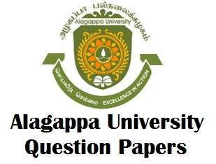 Alagappa University Model Question Paper