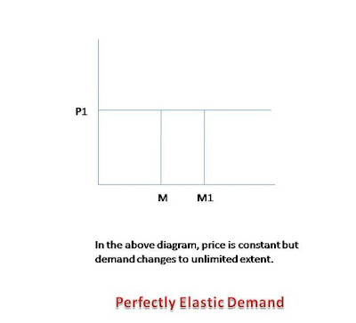 demand changes to unlimited extent on constant price is called perfectly elastic demand