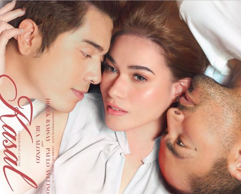 Paulo Avelino as Philip, Bea Alonzo as Lia and Derek Ramsay as Wado in 'Kasal'/Star Cinema